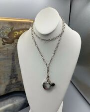"""Charms & Silver Tone Chain """"Origami Owl"""" Round Pendant with"""