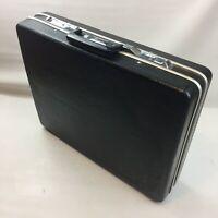 Vintage Echolac KN-211 Black Hard Shell Attache Brief Case, Black, Retro, Prop