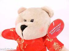 Bear Starbucks Rare Bearista ao dai vietnam Nwt Edition Plush New Series 2013 a