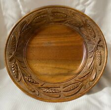 Antique Hand-Carved  Bread Plate Board Daily Bread