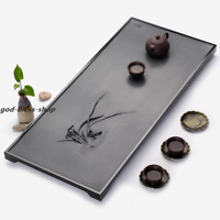 handmade carved orchid tea tray Chinese serving tray weighted stone tea table