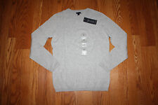 NWT Womens TOMMY HILFIGER Gray Crew Neck Sweater Sz L Large