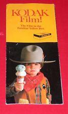 "1980 Kodak Film Trifold Advertising Pamphlet ~ 8.5"" x 3.5"""
