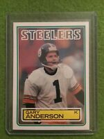 GARY ANDERSON ROOKIE Football Card NFL 1983 Topps #356 Steelers RC New From Pack