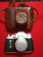 Soviet vintage ussr camera Zenit-3M lens industar-50 3,5/50 + case