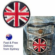 British Flag iron on patch - Round UK Union Jack circle Great Britain patches