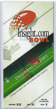 2001 Insight Bowl Game TIcket Stub Kansas State Syracuse