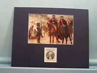 Washington & Lafayette at Valley Forge and the stamp issued to honor Lafayette