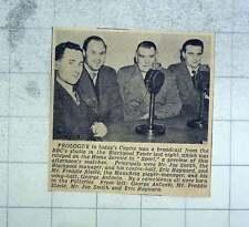 1951 Cup Tie Prologue Broadcast, Joe Smith , Eric Hayward, George Antonio