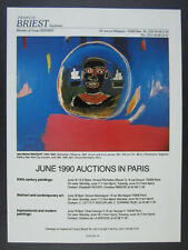 1990 Jean-Michel Basquiat slaveships painting Paris auction vintage print Ad