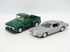 Road Champs SB 1/43 - Lot de 2 : Buick riviera + Ford F100 Pick Up