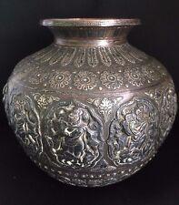 SUPERB Antique Indian Hindu Lota Ganga Jumna Krishna religious rare Raj copper