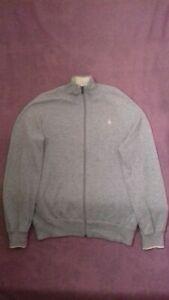 Polo Ralph Lauren Men's Zip up Grey Jumper, Size S - VGC