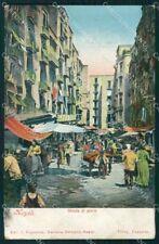 Napoli città Strada di Porto MACCHIA cartolina VK3457