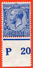 """SG. 371. 2½d Blue. A fine mounted mint  """" P20 perf """" control single"""