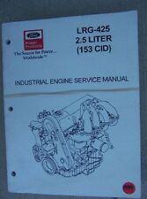1999 Ford Industrial Engine Service Manual Lrg-425 2.5 Liter 153 Cid Ignition L