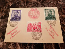 1951 Berlin East Germany DDR Cover Mao Tse Tung Set # 82-84 Student Youth Cancel