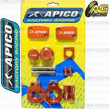 Apico Bling Pack Orange Blocks Cap Plugs Nuts Clamp Cover For KTM EXC/F 350 2014