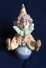 lladro #5813 Having A Ball Circus Clown Sitting On Beach Ball
