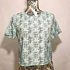 Collective Concepts Stitch Fix Womens Cropped Blouse Size Small Short Sleeve Top