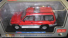 1/18 SUN STAR MITSUBIAHI PAJERO V6 3000 2 TONE RED SILVER GREAT  MODEL #1211