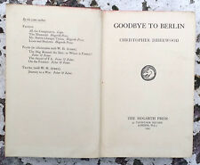 Goodbye to Berlin Christopher Isherwood First Edition GOOD No DJ Film Cabaret