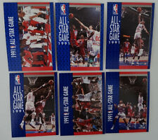1991-92 Fleer All-Star Game Team Set Of 6 Basketball Cards
