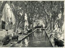 Photo du Peintre Georges Lugon Argentique Lavandière Provence Vers 1950