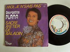 """GEORGETTE PLANA : Moi, je n'sais pas / Sacré métier Baladin 7"""" VOGUE 45 V 140363"""