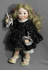 "ANTIQUE REPRODUCTION GERMANY DOLL ALL BISQUE 12""TALL DRESSED 253"