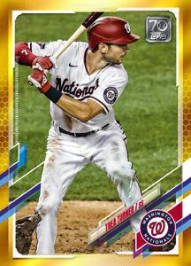 2021 Topps MLB TREA TURNER - Digital NFT Card - Gold Mint #587/881 RARE!