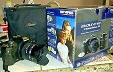 Nice Used Olympus EVOLT E-410 DSLR & 14-42mm & 40-150mm Lenses Battery & Charger