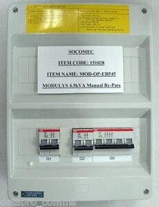 Socomec - 4.5kVA Manual Bypass Switch