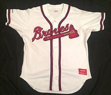 Vintage Atlanta Braves Rawlings Blank Stiched Jersey Mens XL (48) White