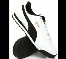 PUMA Roma Basic Classic 35357204 White Black Mens Shoes Sneakers Sz 9.5 Spring
