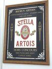 "Vintage Stella Artois Beer Mirrored Bar Sign Framed Large 26.5"" x 20"""