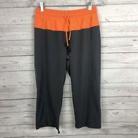 Lululemon Step Lively Crop Pants Size 4 Gray Orange Drawstring