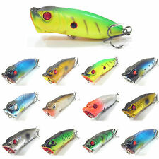 5PCS Fishing Topwater Lure Floating Popper Minnow artificial baits hook 7cm/12g