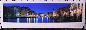 Venice, Italy / Rialto Bridge at Night - Unframed, Blakeway Panorama Print