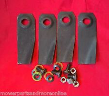 2pr Husqvarna / Flymo / Weedeater 19 Inch Lawn Mower Blade and Bolt Set - 288151