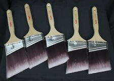 "5 Purdy 3"" Nylox Glide Paint Brushes Angled All Paints Lot New Unused Painter"