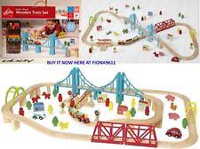 Carousel 2 nel 1 TRENO IN LEGNO & CITY TRACK SET 100 pezzi Brio ELC NUOVO