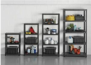 4 tier plastic shelving unit