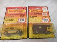 Matchbox 220 Cars Police Patrol 240 Horse Box Blister Packs 1983 Vtg Eng/French