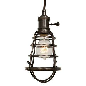 Home Decorators 1-Light Cage Pendant Chandelier 100W Aged Bronze 25415-105