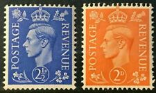GB Sc#261-262 1941 King George VI w/mark Inverted Mint NH OG VF (19-12)