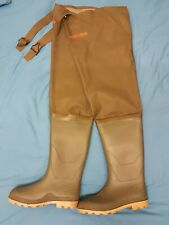 Mens Masterline Green Rubber Hip Thigh Waders Water Proof UK Size 10 EU 44 VGC