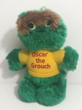 ✨ Vintage Sesame Street Oscar the Grouch Plush Toy Doll Stuffed Animal ✨