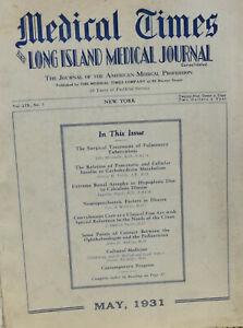 Medical Times and Long Island Medical Journal May 1931