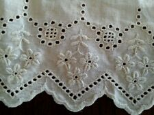 "12"" Antique Whitework Lace Remnant Trim Edwardian Broderie Anglaise"